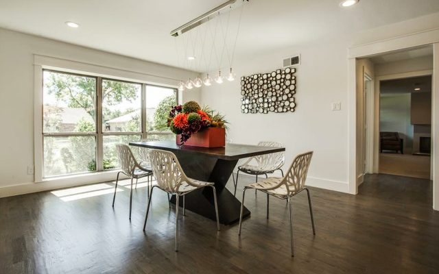 Newly renovated dining room