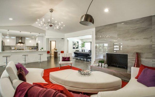 Renovated home living room interior